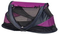 NSA Large Deluxe Pop Up Travel Cot Purple